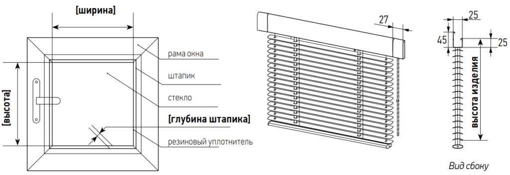 Инструкция по замеру горизонтальных жалюзи изолайт